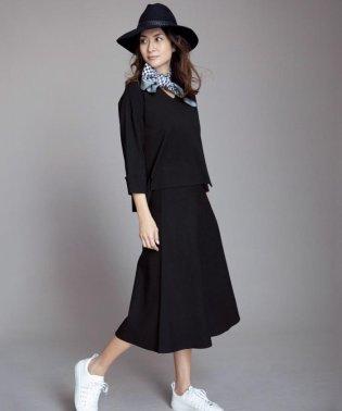 【亜希さん着用】ビスコースストレッチ フレアースカート(検索番号N62)
