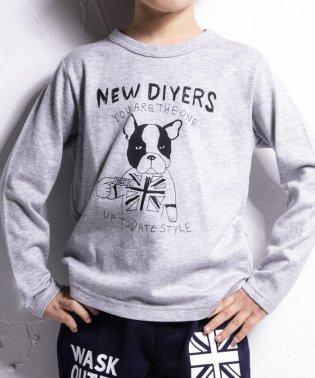 手描きアニマルプリントTシャツ(140cm~160cm)