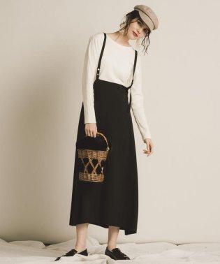 【WEB別注】【socolla】サスぺ付き2WAYスカート