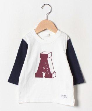 アルファベットプリント切り替えTシャツ