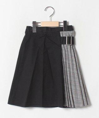 【キッズ】プリーツ切り替えスカート(120~160cm)