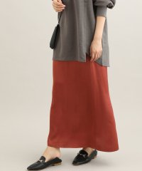 サテンマキシナロースカート