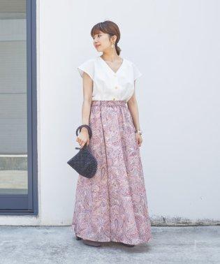 SMF ペイズリープリント ギャザースカート