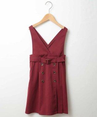 [160]トレンチプリーツジャンパースカート[WEB限定サイズ]