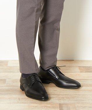 【マルイのビジネスシューズ】ラクチン軽快シューズ 人工皮革 ストレートチップ