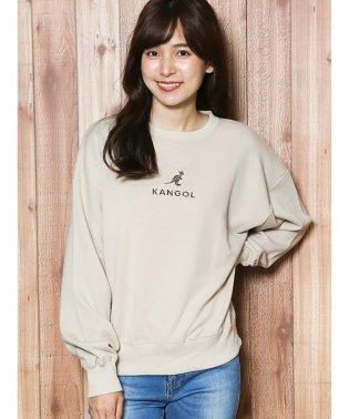 【WEB販売】カンゴール/KANGOL 裏毛ロゴ刺繍スウェットプルオーバー