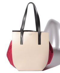 【MARNI】トートバッグ/GUSSET【ANTIQUE WHITE+RED+BLACK】