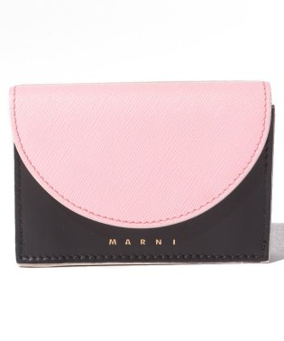【MARNI】3つ折り財布/LAW【CINDER ROSE+BLACK+ANTIQUE WHITE】