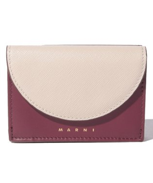 【MARNI】3つ折り財布/LAW【ANTIQUE WHITE+RUBY+CHESTNU】