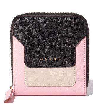 【MARNI】2つ折り財布/VANITOSI【BLACK+ANTIQUE WHITE+CINDER ROSE】