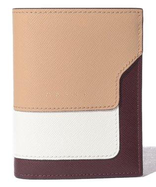 【MARNI】2つ折り財布/VANITOSI【SOFT BEIGE+NATURAL WHITE+WINE】