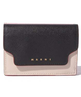 【MARNI】3つ折り財布/TRUNK【BLACK+ANTIQUE WHITE+CINDER ROSE】