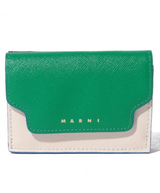 【MARNI】3つ折り財布/TRUNK【SEA GREEN+ANTIQUE WHITE+BLACK】