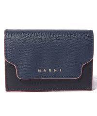 【MARNI】3つ折り財布/TRUNK【NIGHT BLUE+BLACK+WINE】