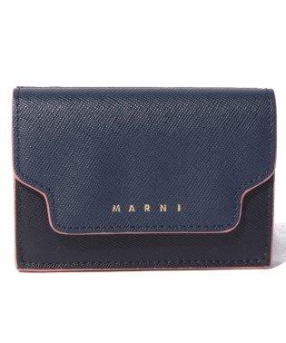 【MARNI】3つ折り財布/TRUNK【NIGHT BLUE+BLACK+WINE】