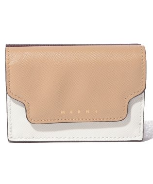【MARNI】3つ折り財布/TRUNK【SOFT BEIGE+NATURAL WHITE+WINE】