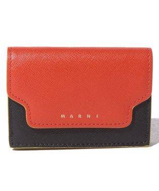 【MARNI】3つ折り財布/TRUNK【ARABESQUE+BLACK+SOFT BEIGE】