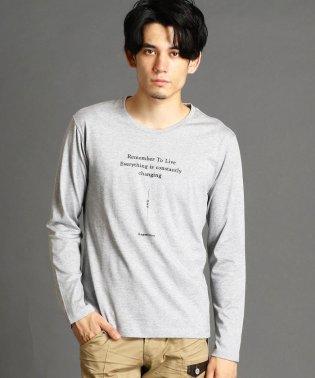 グラフィックロゴプリント長袖Tシャツ