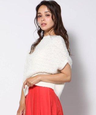 【大きいサイズ】ラメパイル編みニット