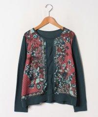 【大きいサイズ】【セットアップ対応】Erica サテンプリント×シルクウール天竺 セーター