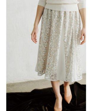 配色コードレース切り替えスカート