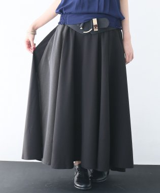 n'Or配色フレアロングスカート