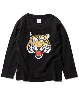 キッズ 子供服 デビラボ ロゴプリント長袖Tシャツ 男の子 女の子