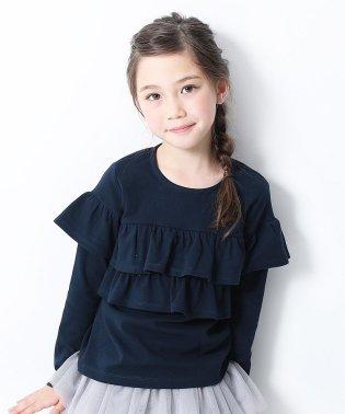 キッズ 子供服   男の子 女の子ガールズデザイン長袖Tシャツ 女の子
