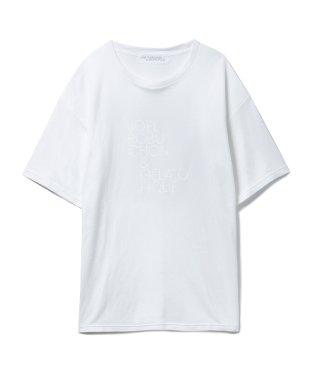 【Joel Robuchon & gelato pique】smile cotton ロゴTシャツ