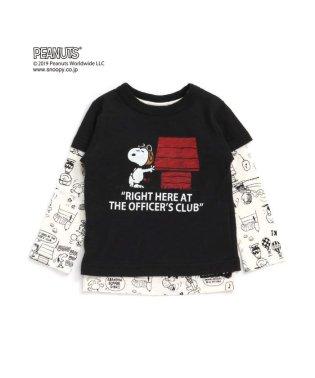 PEANUTSコラボ2PセットTシャツ(スヌーピー)