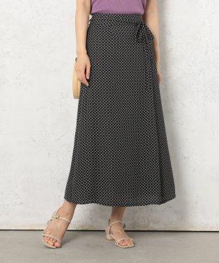 小紋柄共リボンラップ風スカート