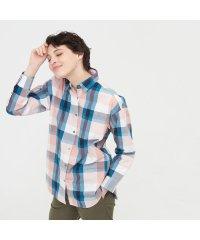 吸水速乾 長袖チェック チュニックシャツ