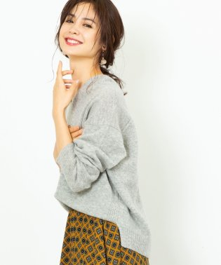 【ムック本掲載・手洗いできる】ラムウールVネックニット