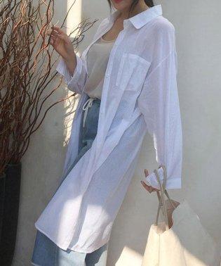 UVケアカーディガン 薄手 ロングシャツ ボタン付き レディース シャツワンピース 即納