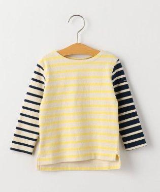 SHIPS KIDS:エルボーパッチ付き ボーダー バスクシャツ(80~90cm)