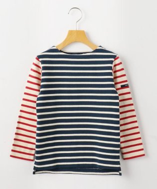 SHIPS KIDS:エルボーパッチ付き ボーダー バスクシャツ(100~130cm)
