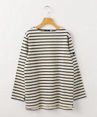 SHIPS KIDS:エルボーパッチ付き ボーダー バスクシャツ(145~160cm)