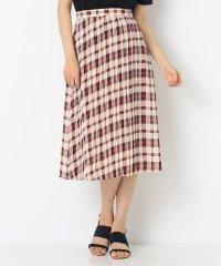 【洗える】オータムカラーチェックシフォン スカート
