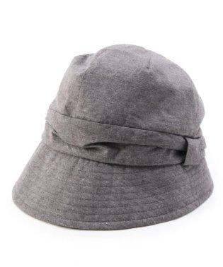 サイドリボン ハンチング帽