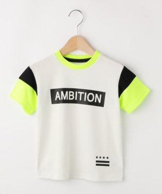 【150cmまで】メッシュ袖切替Tシャツ