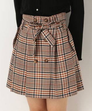 チェックトレンチスカート