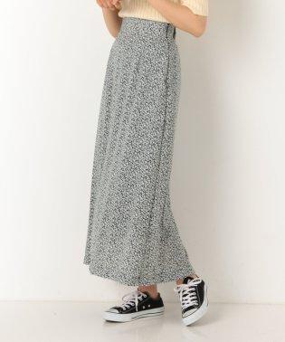 花柄ロングセミフレアスカート