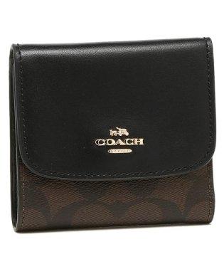 コーチ 三つ折り財布 アウトレット レディース COACH F87589 IMAA8 ブラウン ブラック