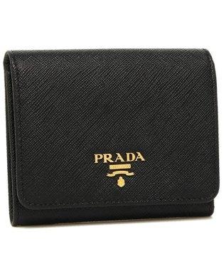 プラダ 折財布 レディース PRADA 1MH176 QWA F0002 ブラック