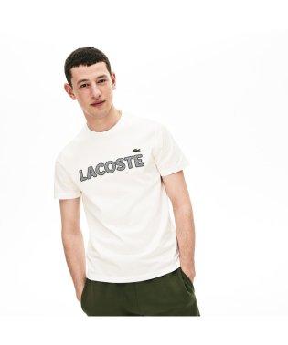 ハウンドトゥースパッチワークネームTシャツ
