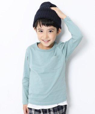 キッズ 子供服 クルーネック長袖Tシャツ 男の子 女の子