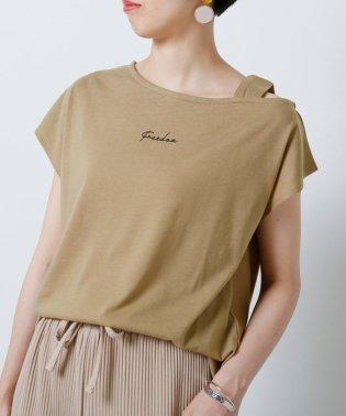 ワンショルロゴ刺繍Tシャツ