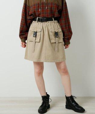 ミリタリーポケ台形スカート