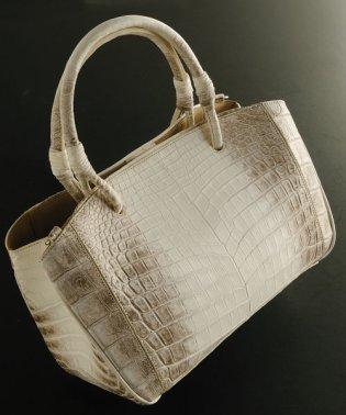 ヒマラヤクロコダイルレザーハンドバッグ日本製