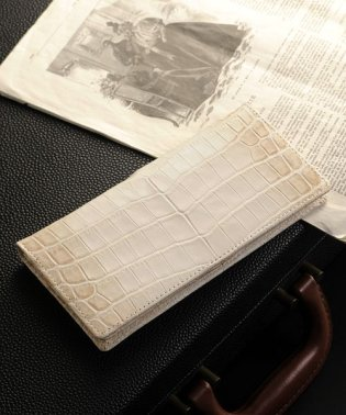 ヒマラヤクロコダイルレザー二つ折り長財布